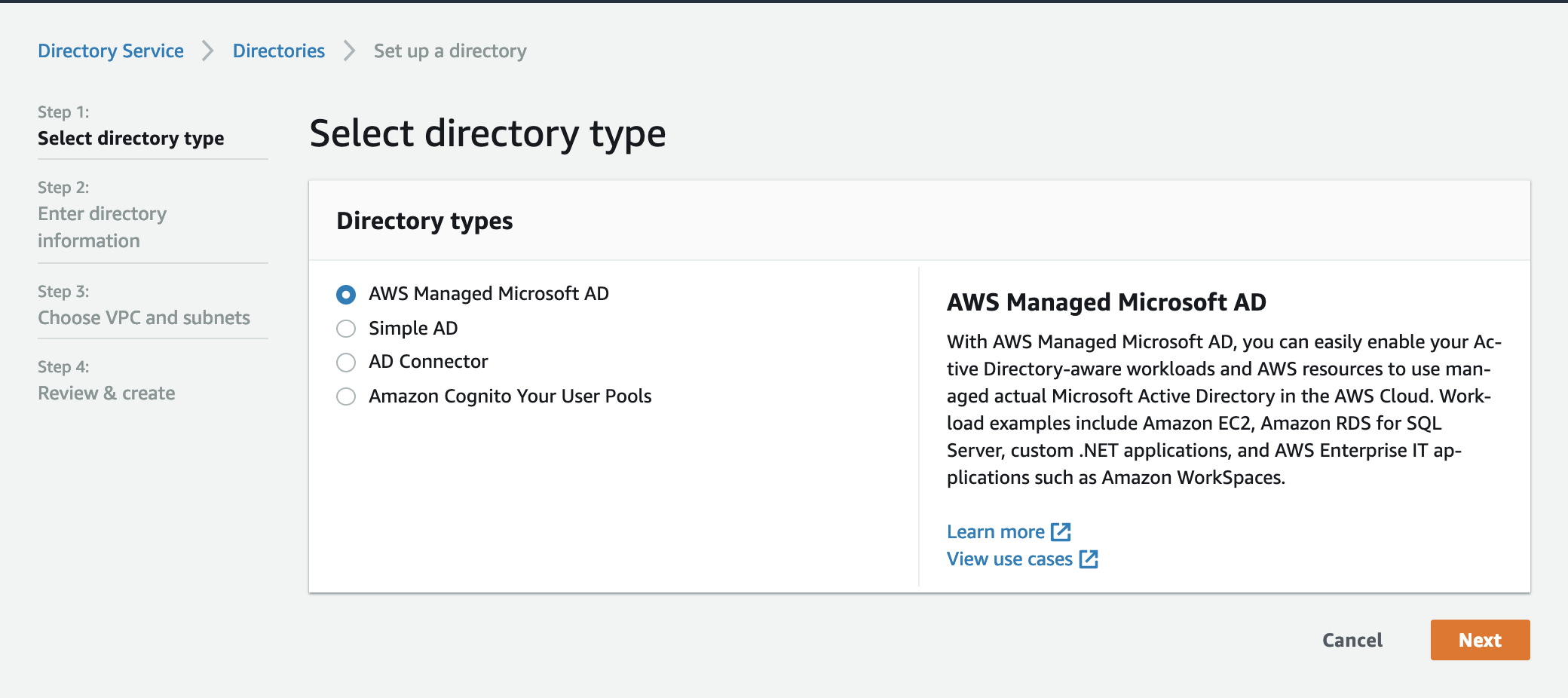 Integrating AWS Directory Services with VMware Cloud on AWS