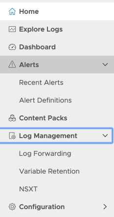 Export Firewall Logs on VMware Cloud on AWS to VMware Log