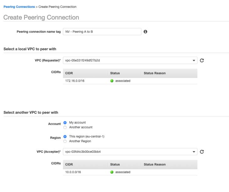 Create VPC Peering