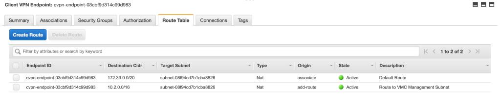 Client VPN Routes