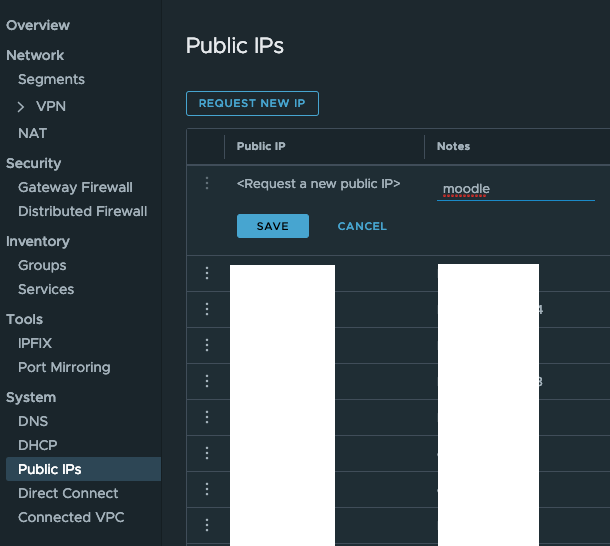 Request Public IP