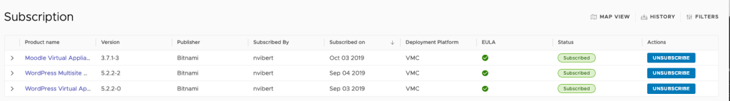 VMware Cloud Marketplace Subscription